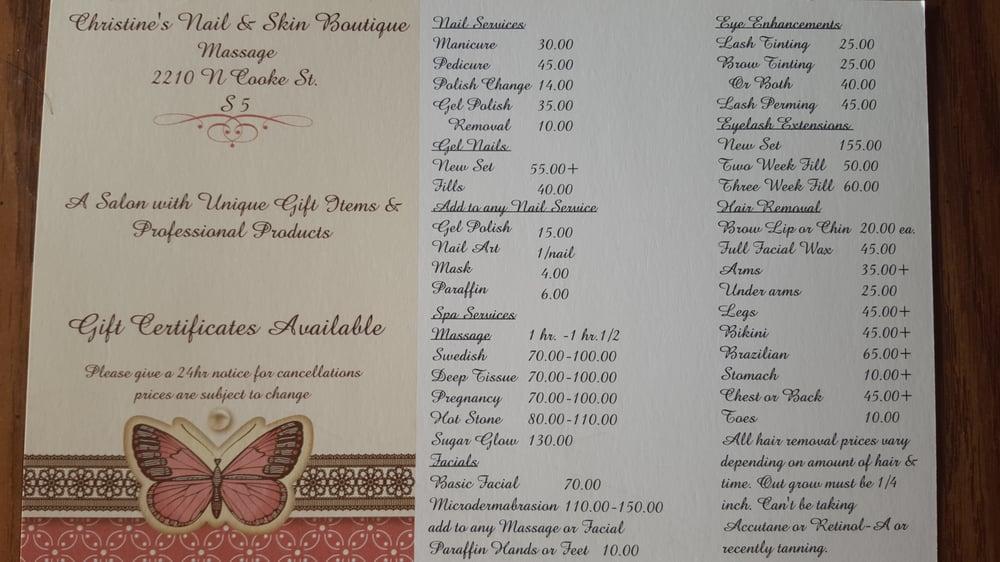 Christine's Nail & Skin Boutique & Massage