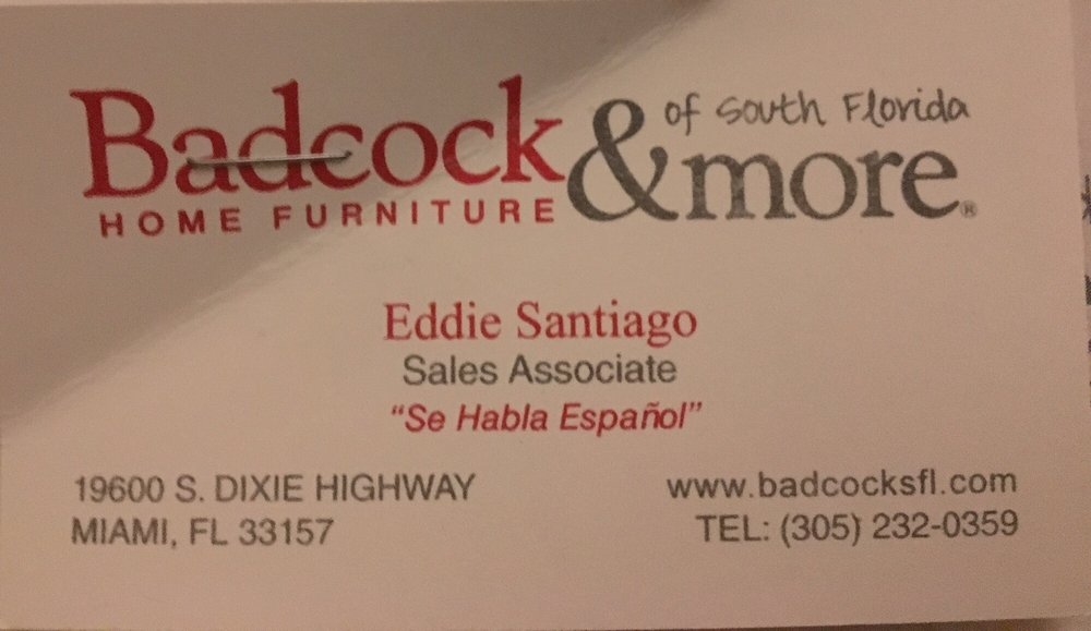Badcock Home Furniture More Furniture Shops 19600 S Dixie Hwy Cutler Bay Fl United