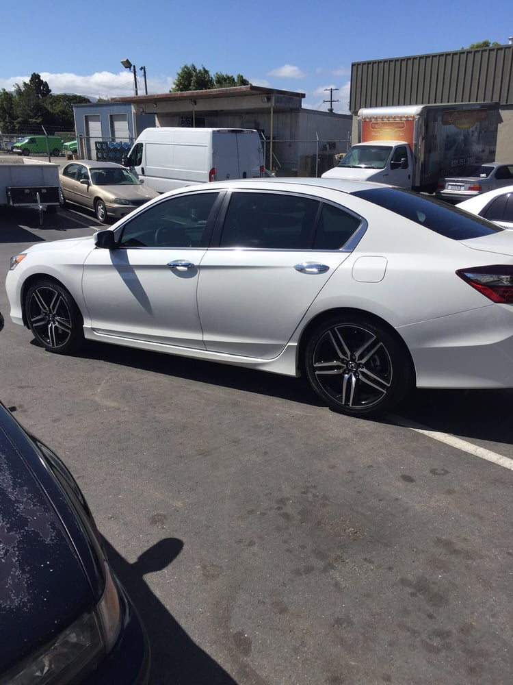 2016 Honda Accord Sport With Number 3 Tint On All Windows