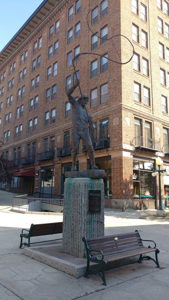 Bullwhacker Statue: 1 S Last Chance Gulch St, Helena, MT