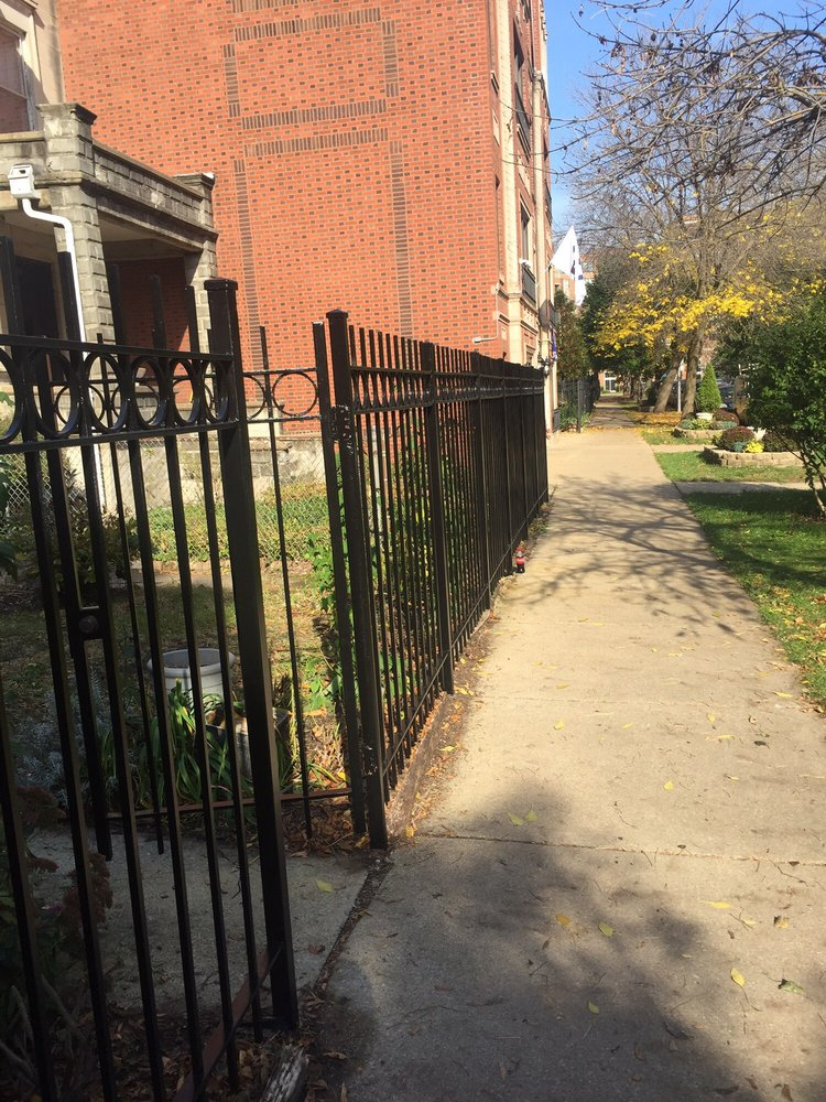 Chicago Wrought Iron Fence Painting