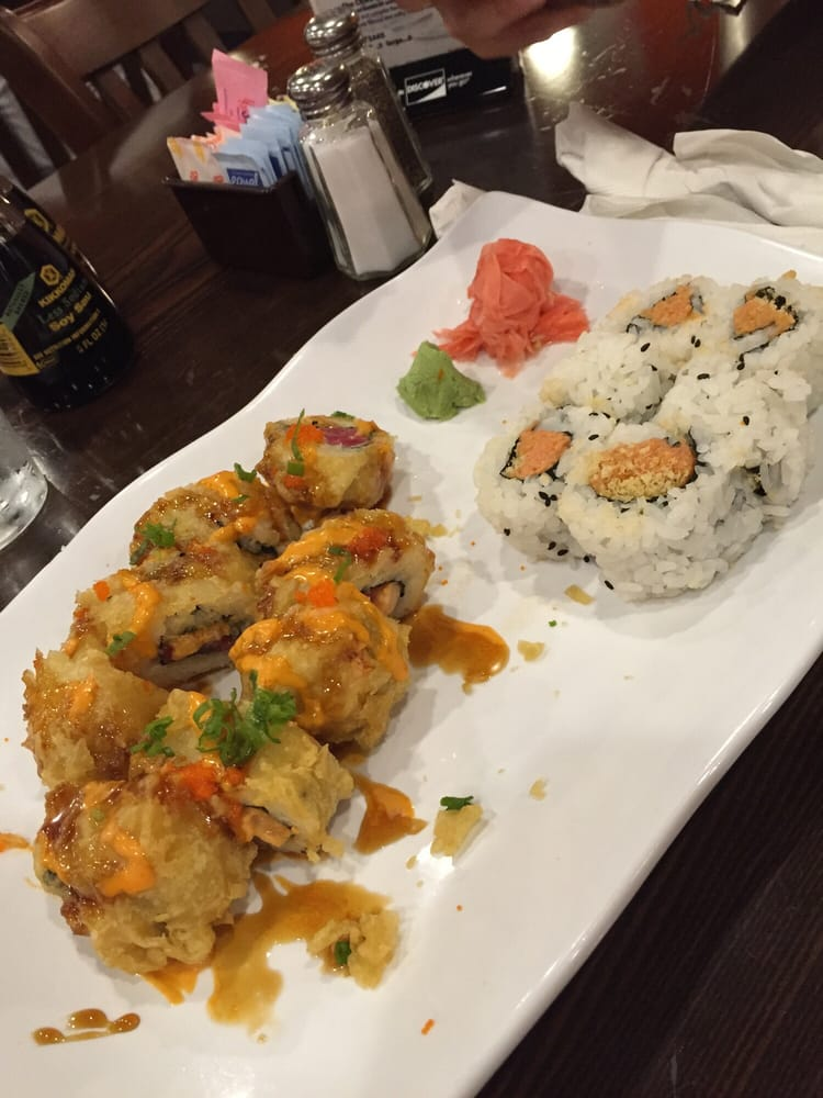 Out of control roll and spicy tuna roll yelp for Am asian cuisine