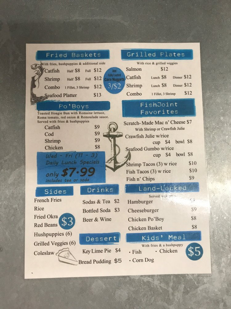 Fish Joint: 1280 US-377, Pilot Point, TX