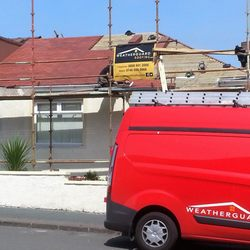 Photo Of Weather Guard Roofing   Edinburgh, United Kingdom. Roofing Work In  Progress