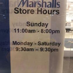 Marshalls Store Hours