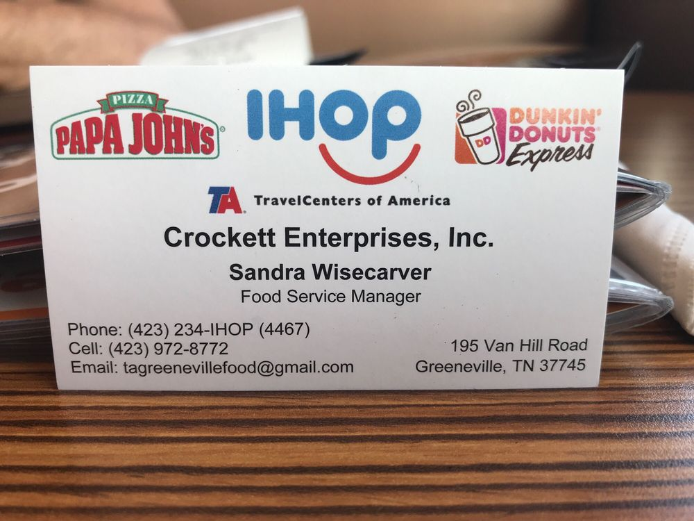 TA Davy Crockett Travel Center: 195 Van Hill Rd, Greeneville, TN