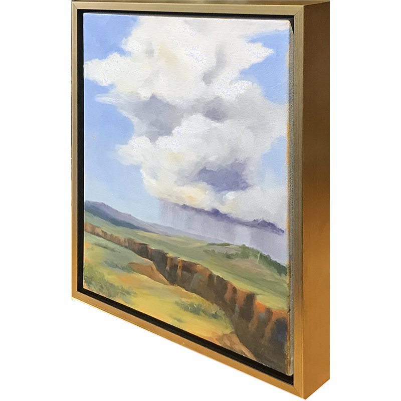 Example of float framing of art on canvas that has been gallery ...