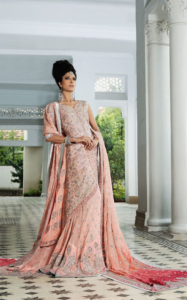 Indian pakistani wedding shaadi bridals lengha gharara for Indian wedding dresses new york