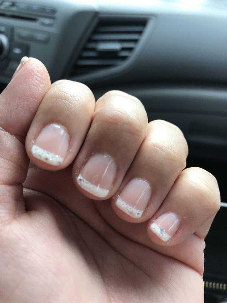 ring fingernail white nail polish had not dried well when tech put ...