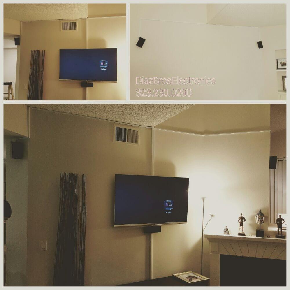Standard installation on tilting wallmount and 5.1 surround sound ...