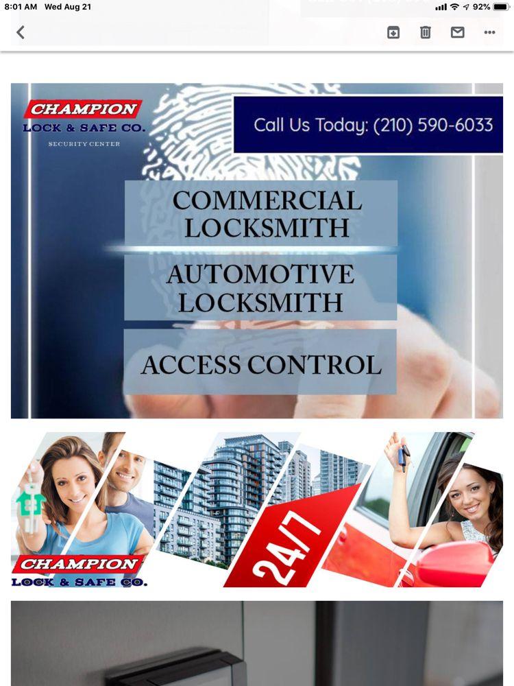 Champion Lock & Safe: 11935 Perrin Beitel Rd, San Antonio, TX