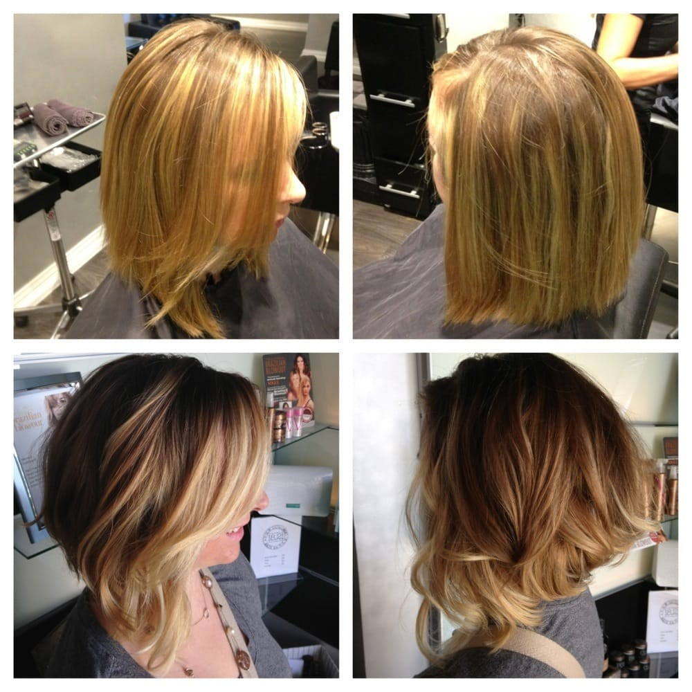 Before: top & after: bottom! She let me transform her hair ...
