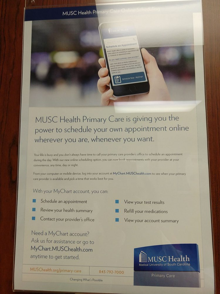 Photo Of Musc Health Charleston Sc United States The Mychart Website Online