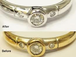 gold plating jewelry service near me before and after photo transform your yellow gold to 4838