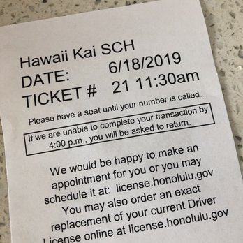 oahu drivers license renewal appointment