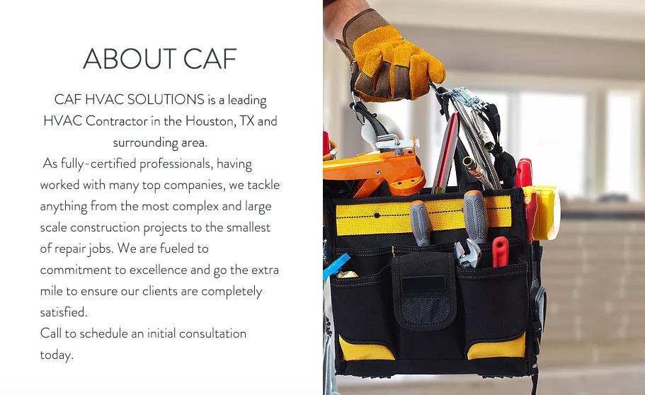 CAF HVAC Solutions: Houston, TX