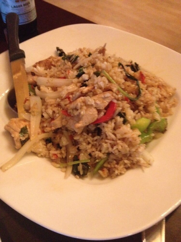 Thai spicy fried rice with pork it actually wasn 39 t that for Anong thai cuisine