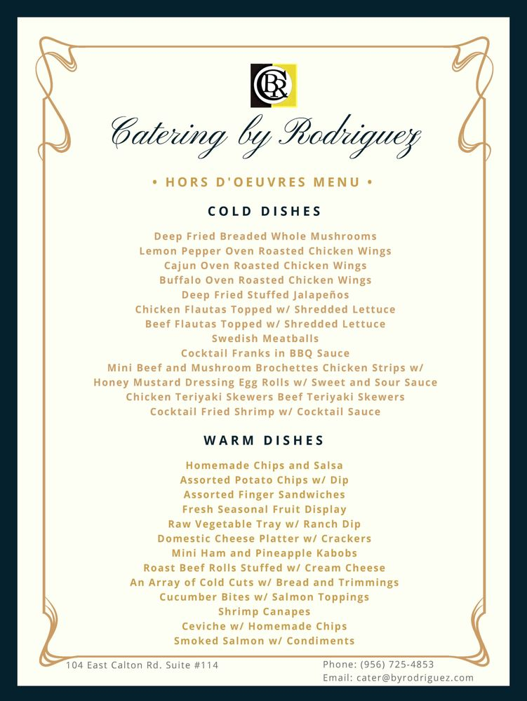 Catering by Rodriguez - Caterers - 104 E Calton Rd, Laredo, TX ...