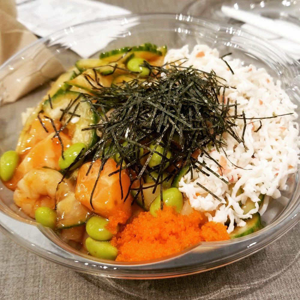 Poke bowl with salmon and shrimp - Yelp