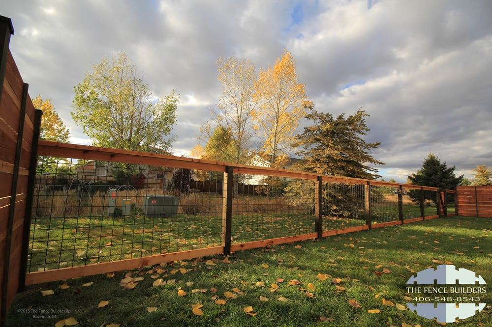 Modern wood and wire fence in bozeman montana yelp for Bozeman builders
