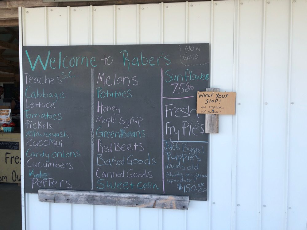 Raber's Produce: 8728 Kidron Rd, Apple Creek, OH