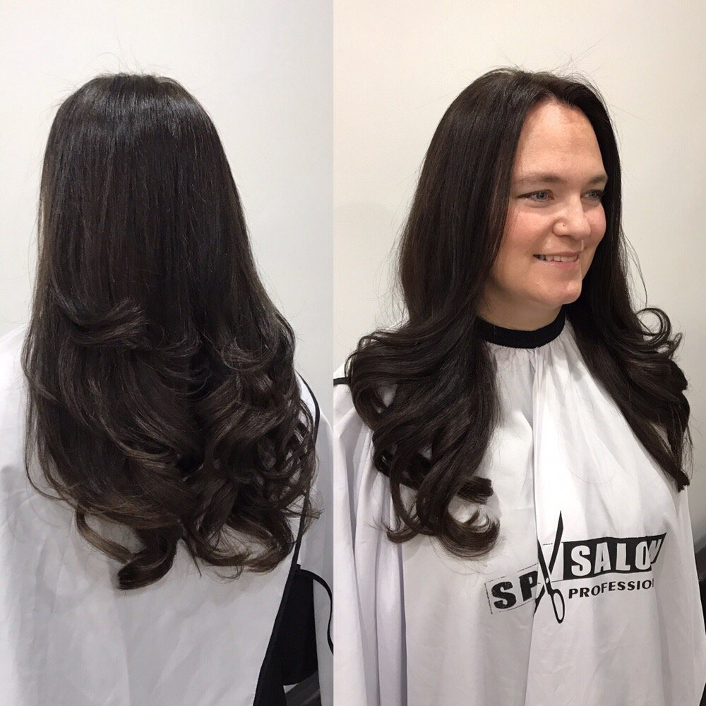 Single Process Haircut And Style By Johnny Yelp