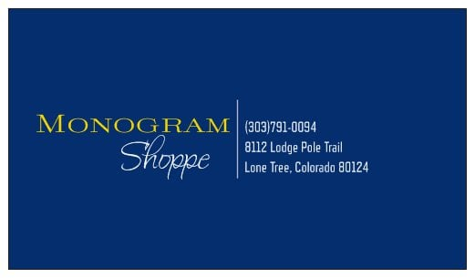 The Monogram Shoppe: 8112 Lodge Pole Trl, Lone Tree, CO