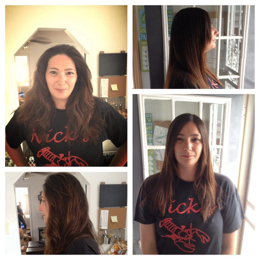 Keratin Treatment Before After Photos Takes Away Frizzy On