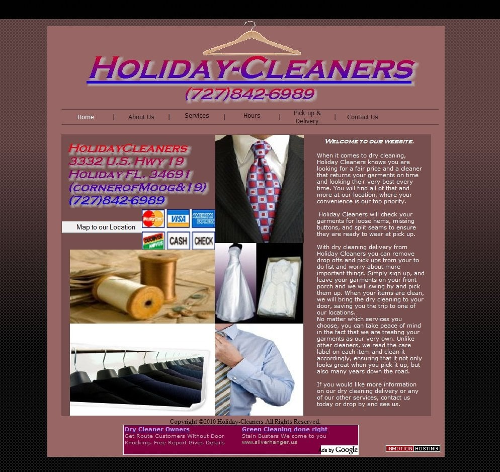 Holiday Cleaners: 3332 US Hwy 19, Holiday, FL