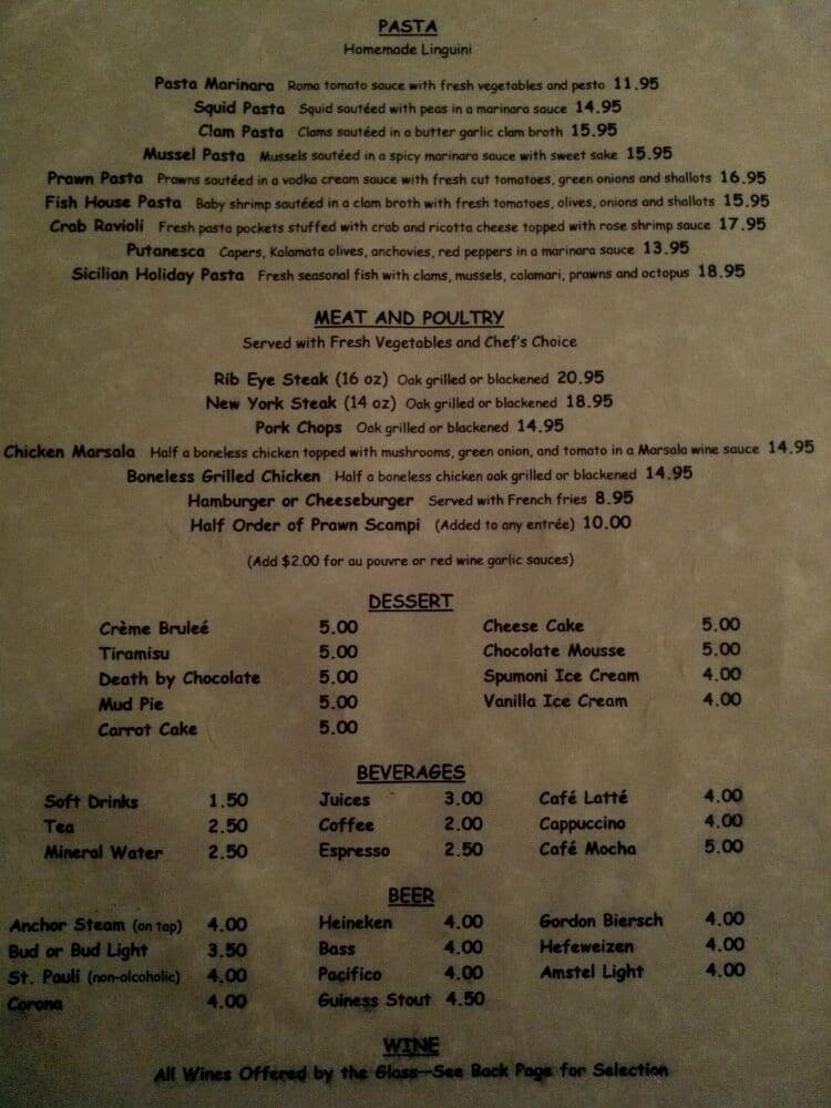 Menu pg 3 yelp for One fish two fish menu