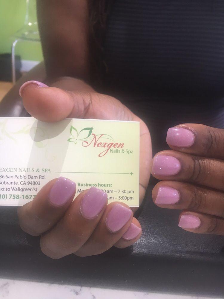 All natural nails using nail dip at Nexgen Nails in El Sobrante ...