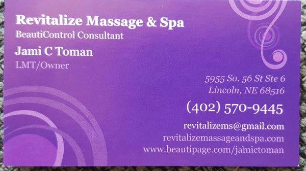 Revitalize Massage Spa 2611 S 70th St Lincoln Ne Massage