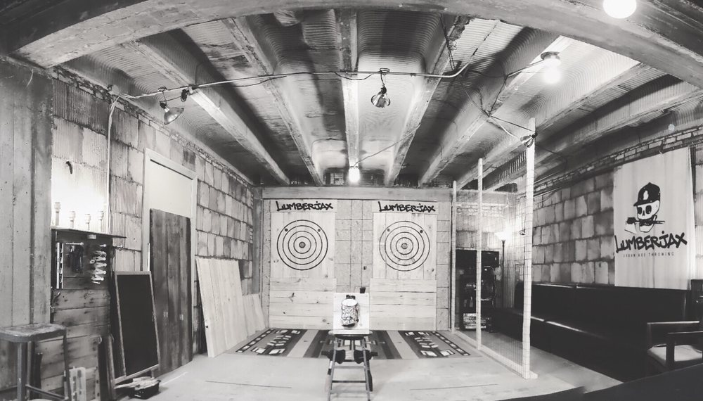 Lumberjax: Urban Axe Throwing: 404 State St, St. Joseph, MI