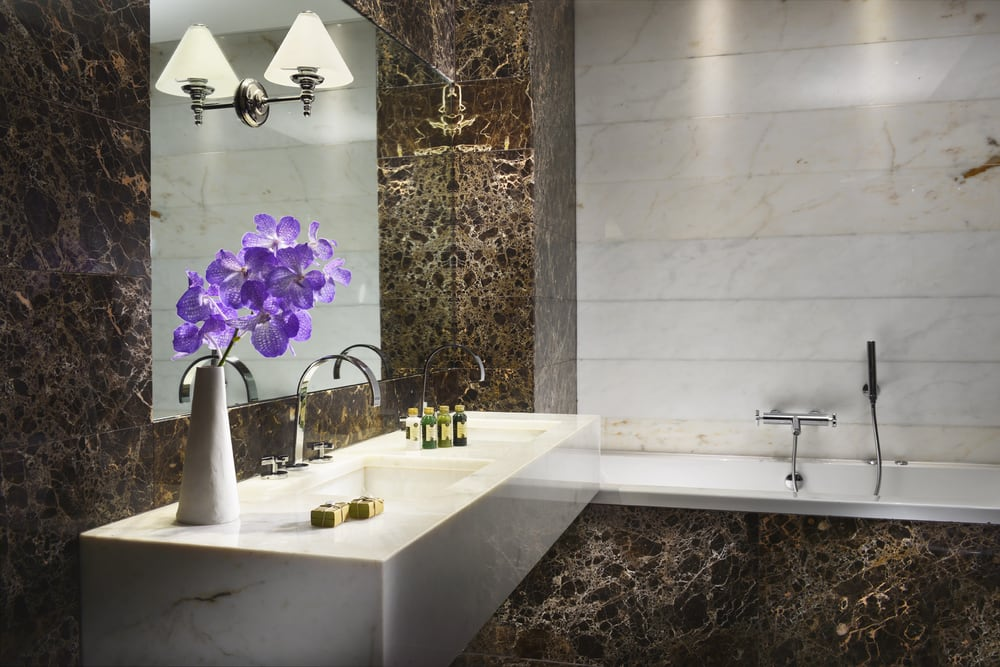 Marble bathroom The First Luxury Art Hotel Roma - Yelp