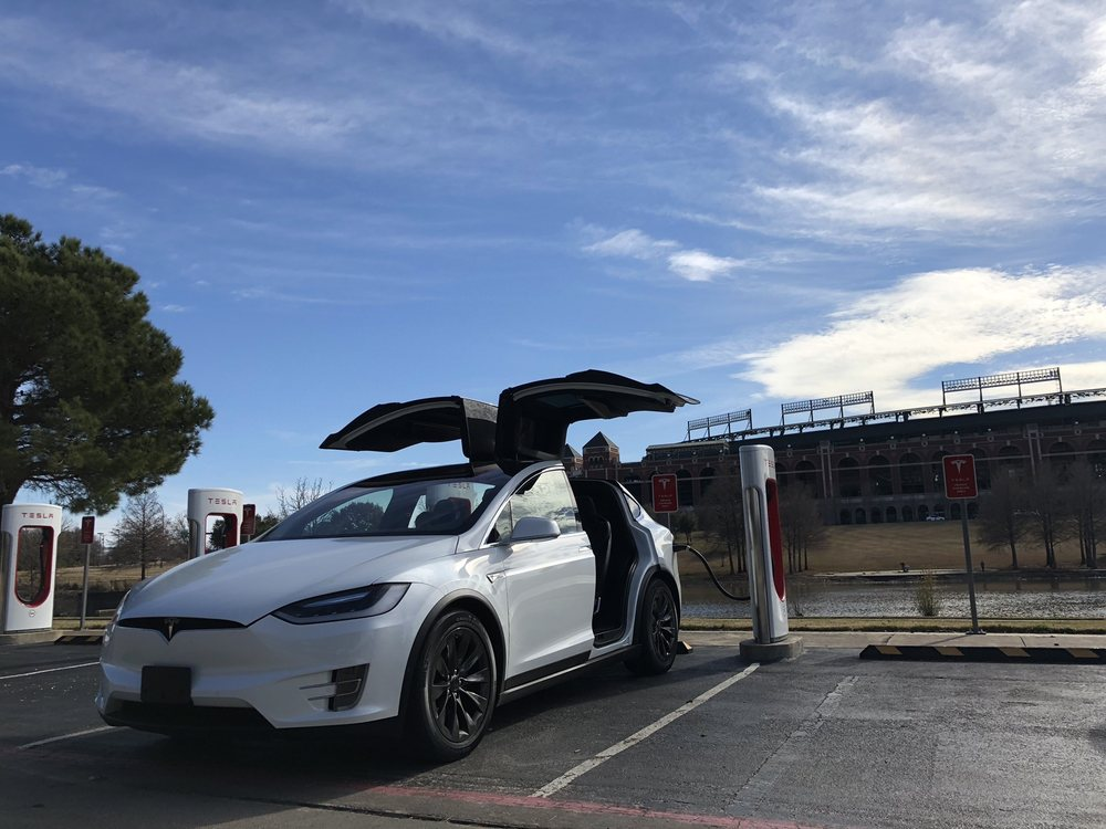 Tesla Charging Station: 1200 Ballpark Way, Arlington, TX