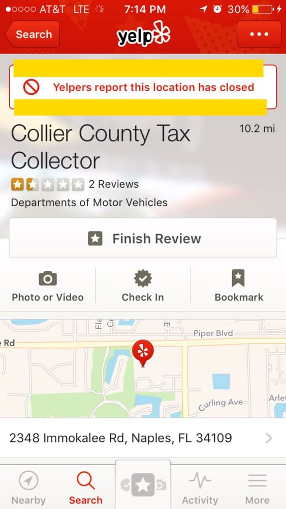 Collier county tax collector closed departments of for Motor vehicle phone number
