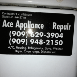 Ace Appliance Repair Service 77 Reviews Home Services