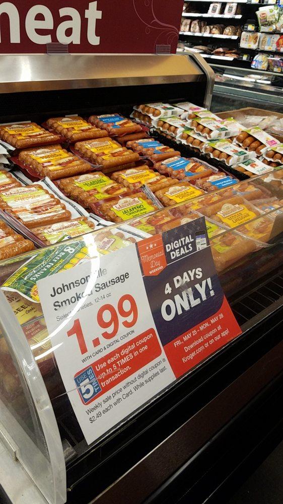 Kroger sells Delia's chicken sausages (frozen)  One pound