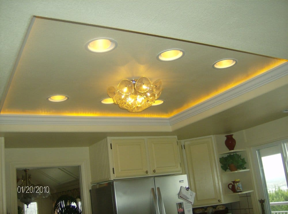 Recessed Lighting And Lighted Crown Molding Yelp