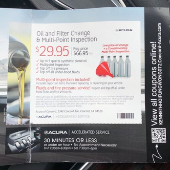 Acura Of Serramonte Photos Reviews Auto Repair - Acura oil change coupons