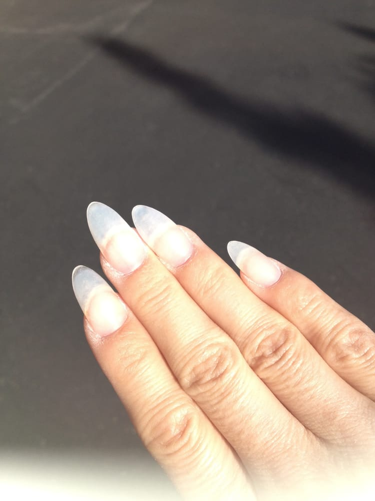 Long Clear Acrylic Nails Perfect Foundation For My Gel And Nail Art