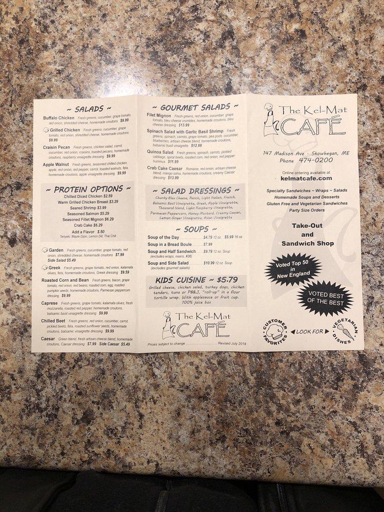 The Kel-Mat Cafe: 147 Madison Ave, Skowhegan, ME