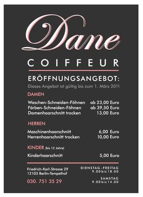 Coiffeur Dane Hair Salons Friedrich Karl Str 29 Tempelhof