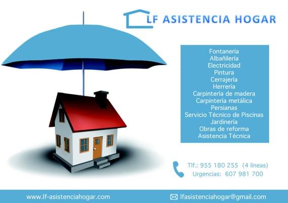 Lf asistencia hogar contratas avenida del reino unido for Empresas de reparaciones del hogar en madrid