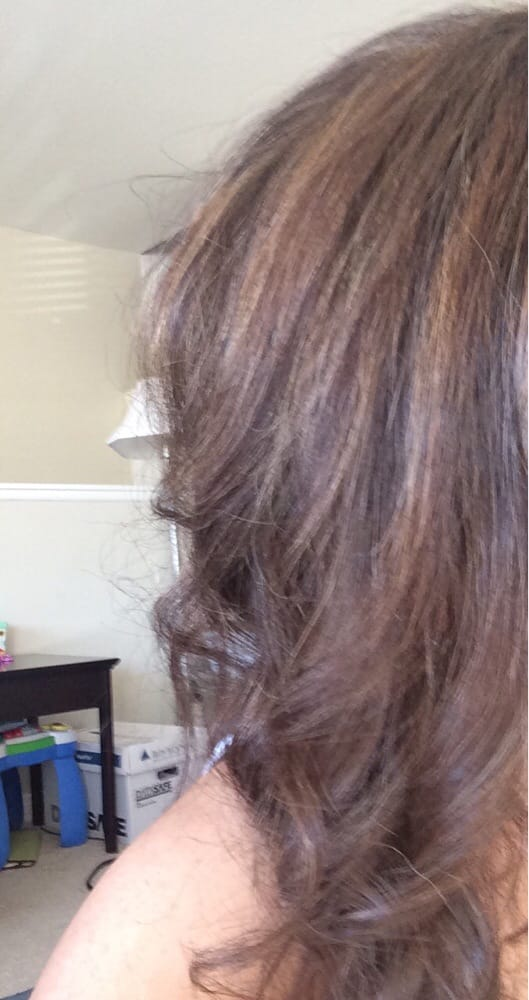 Half Head Highlights And Base Re Touch Light Brown And Medium