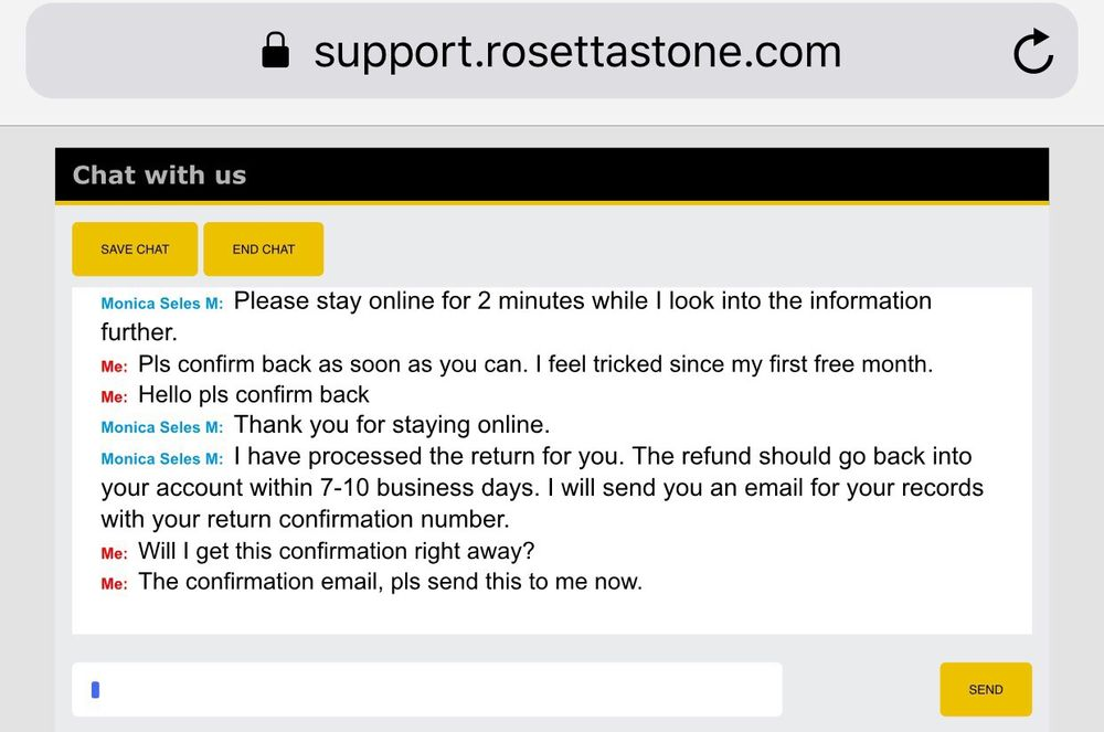 rosetta stone customer service chat