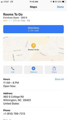 Rooms To Go 460 S College Rd Wilmington Nc Furniture Stores Mapquest