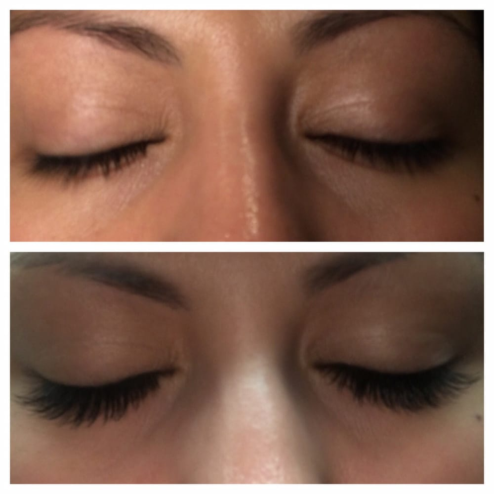 The Top Is Before The Bottom Is After Lash Extensions Yelp