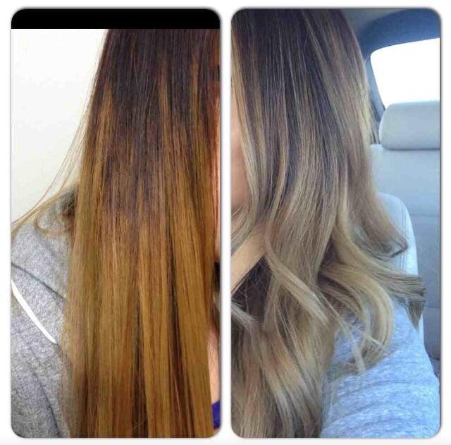 Hair Turning Blonde
