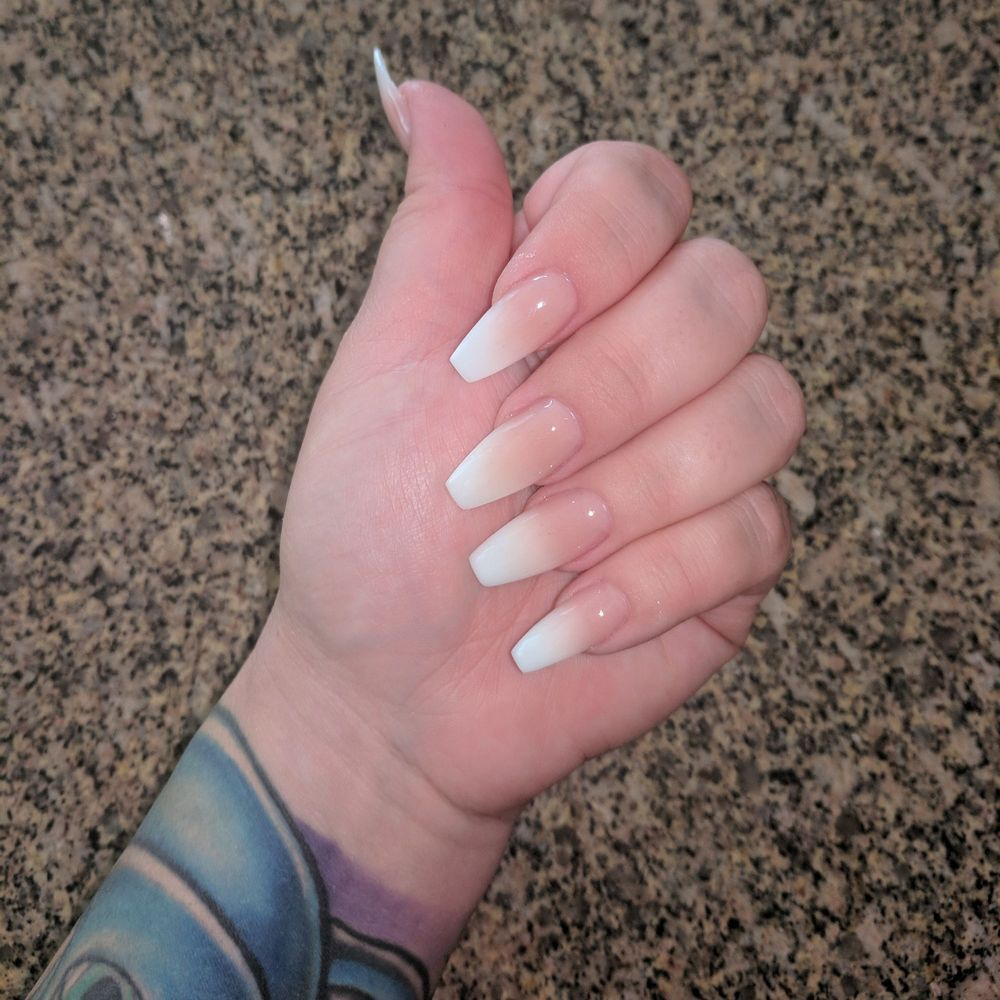 Coffin ombre nails done by Paul - Yelp